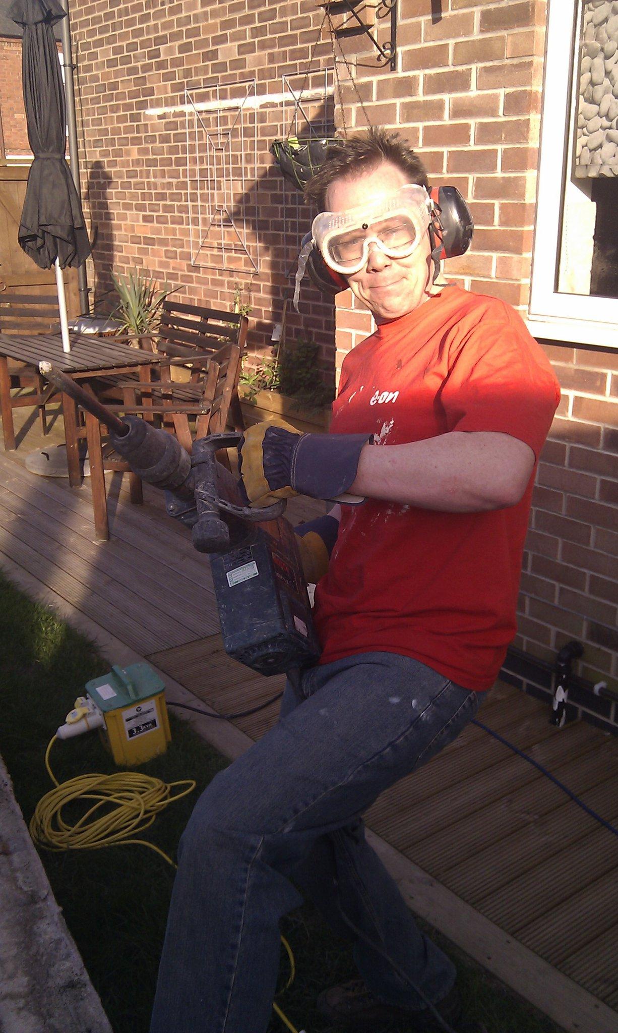 J preparing to destroy the pond