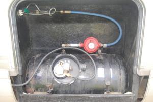 Dave's LPG tank, before being repainted