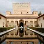 Court of Myrtles, Alhambra, Granada, Spain