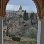 View from Generalife, Alhambra, Granada, Spain