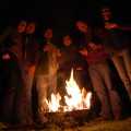 Christmas Eve Fir Cone Burning