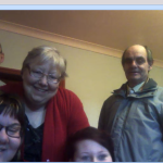 Our skype view of my wonderful family yesterday
