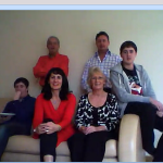 Our skype view of Julie's wonderful family yesterday