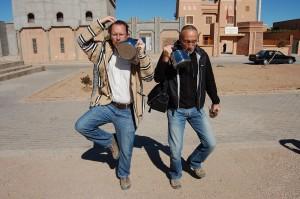 Kettle dance outside the Kasbah. Like you do.