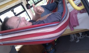Van hammock. Phil's a genius.