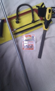 U bolt and U bolt making kit. Now then, how do we bend this here threaded rod? Hmmm.