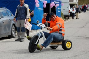 This fella had great fun spinning down the road all day
