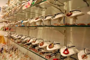 Glassware for sale in Murano