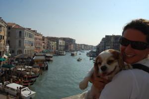 Charlie and me on Ponte di Rialto
