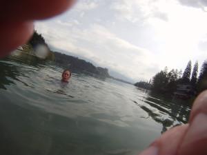 Lake Bled, wonderfully wet.