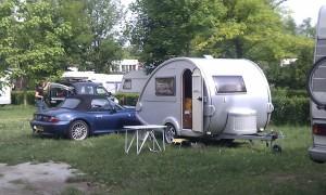 Nice little caravan set up next to us