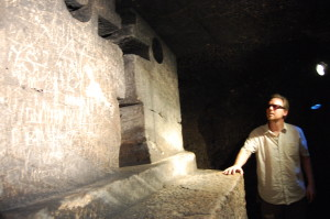 Underground church in Jajce. Best not to wear prescription sunglasses, I couldn't see the floor.