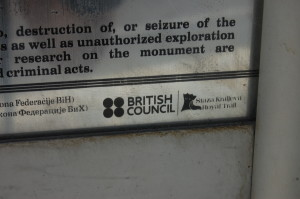"""Stern warnings appear necessary: """"don't break this again you lot or there'll be trouble"""". This small mosque appears to have been fully funded by the British Council."""