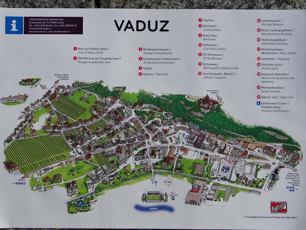 Map of Vaduz » Travel
