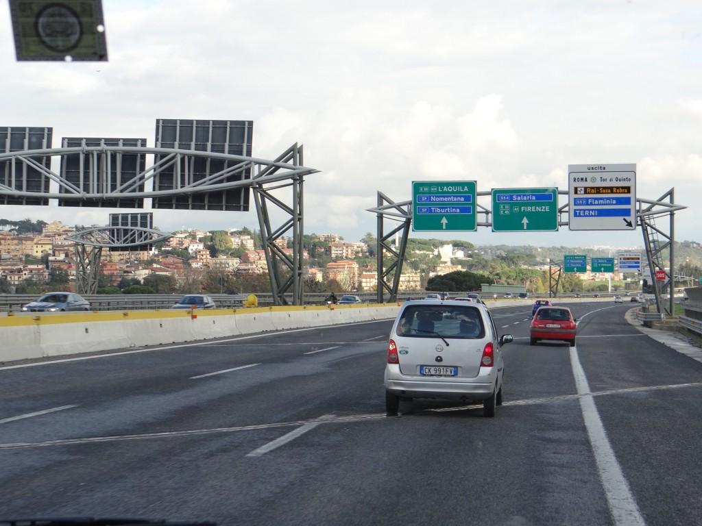 Empty Sunday roads to Rome.