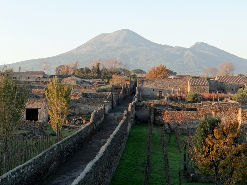 Vesuvius rising over the ruins of Pompeii
