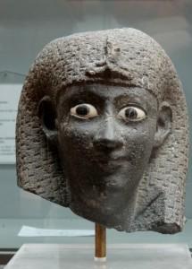 Scarey eyed Egyptian statues