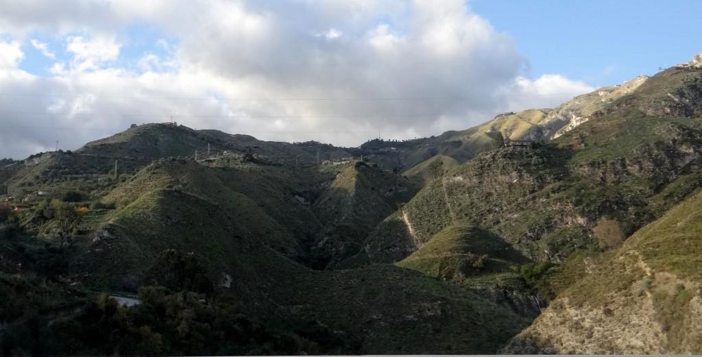 Sicily landscape looks like it's still flowing