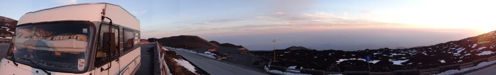 Tonight's sleeping spot at Rifugio Sapienza, Mount Etna