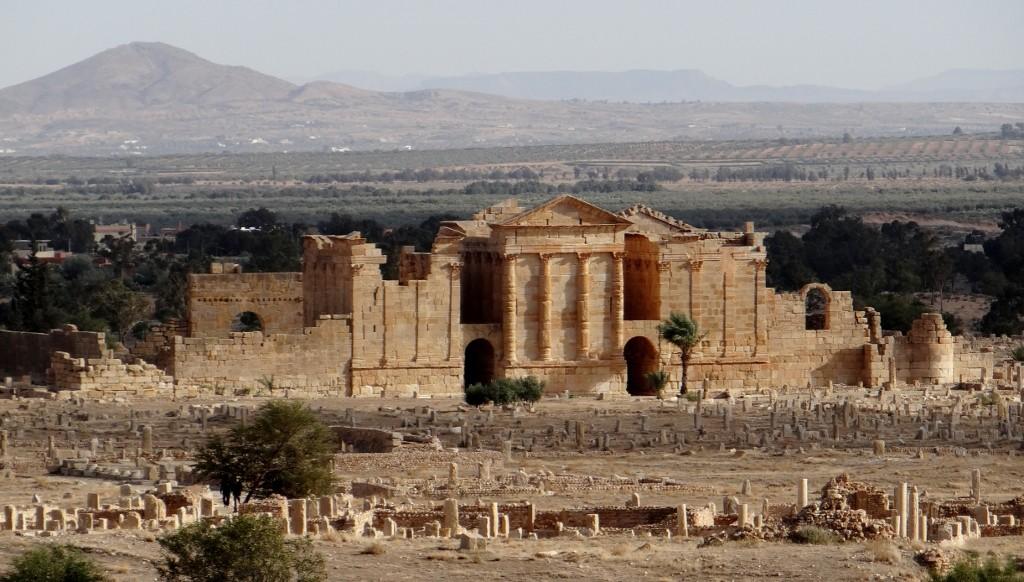 The Roman ruins at Sbeitla