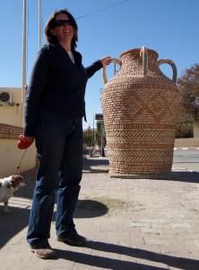 Big brick jugs decorate the town - it's a bit odd!