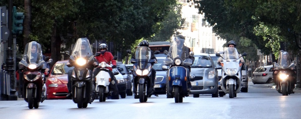 Mopeds really are the best way to get around this city.