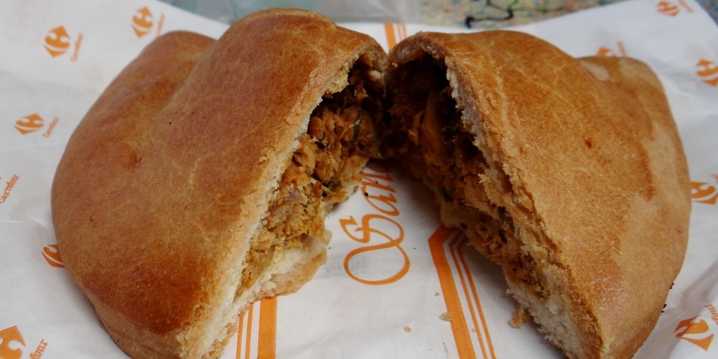English Pie from Carrefour, spicy chicken with a heavy, dry pastry - not sure I'd visit England after eating this!