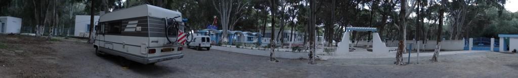 Tonight's kipping spot at the youth hostel 3km south of Bizerte.