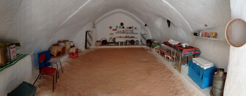 A modern pit dwelling kitchen