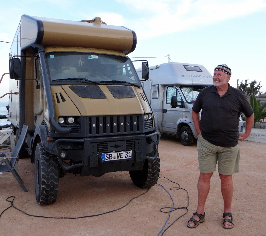 Werner and his adventure truck