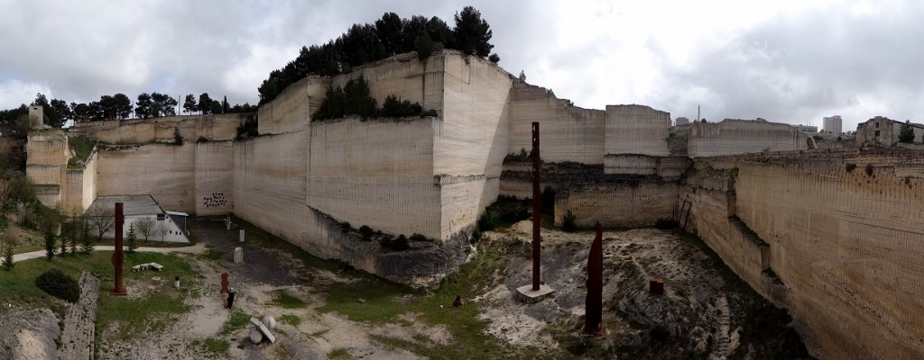 An old quarry which is now a sculpture park