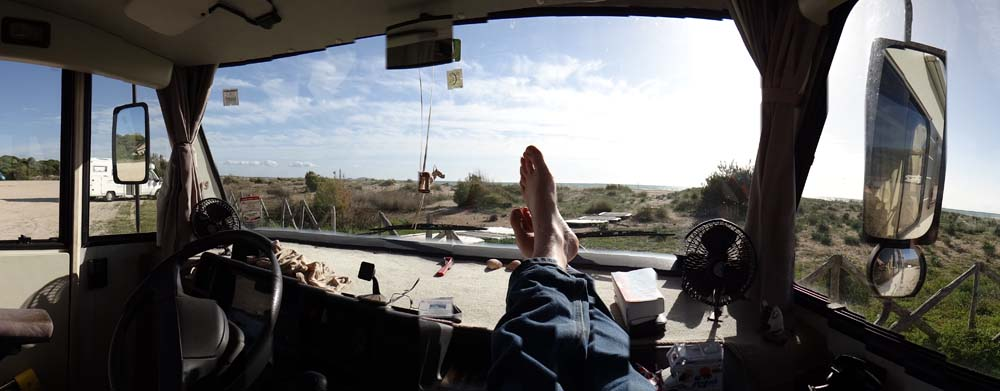 My feet in the sun!