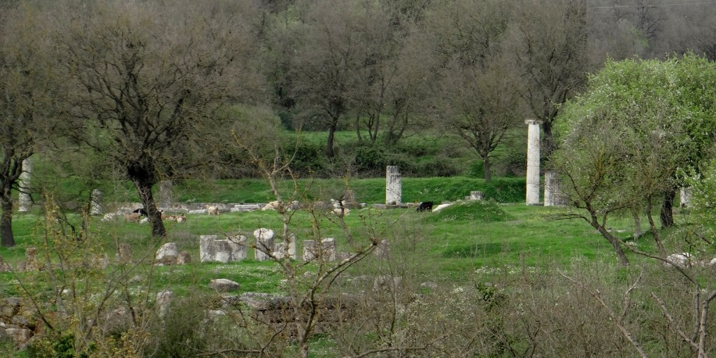 Ancient Megalopolis - complete with grazing goats!