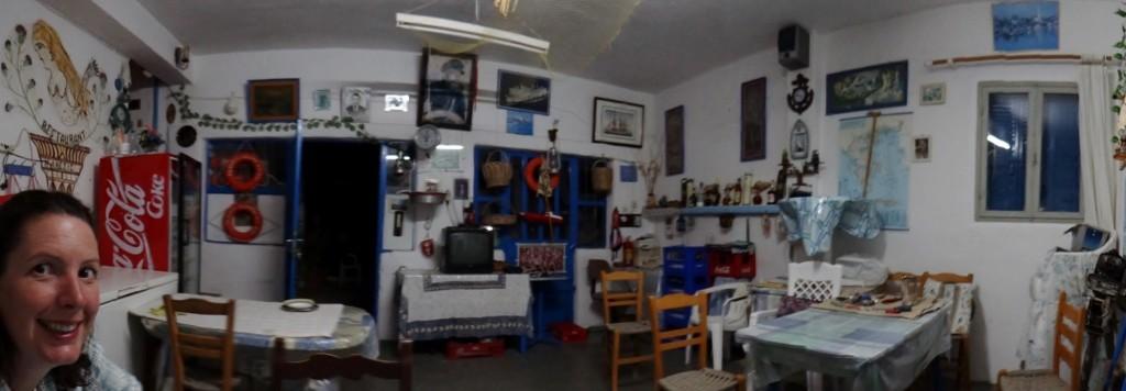 Inside Stavo's taverna