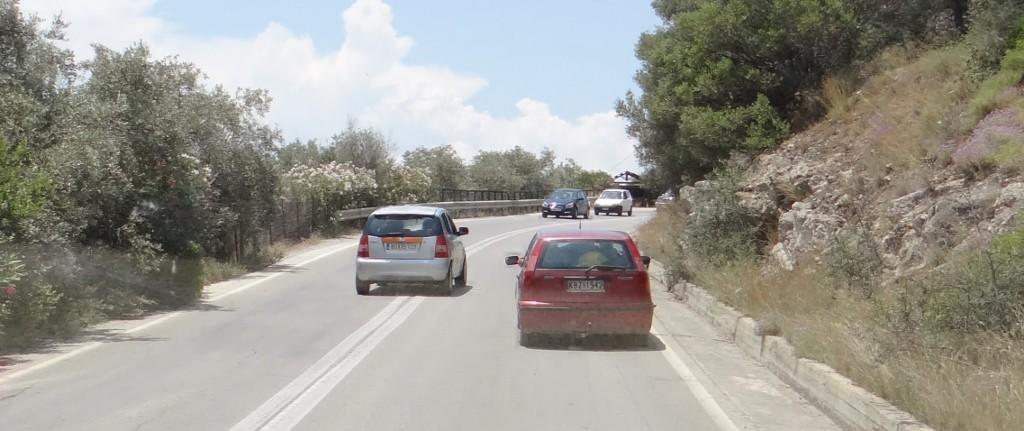 Crazy Greek overtaking!