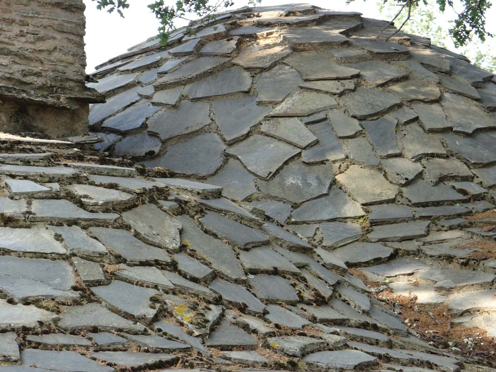 The slate roof reminded me of some of Gaudi's works in Barcelona.
