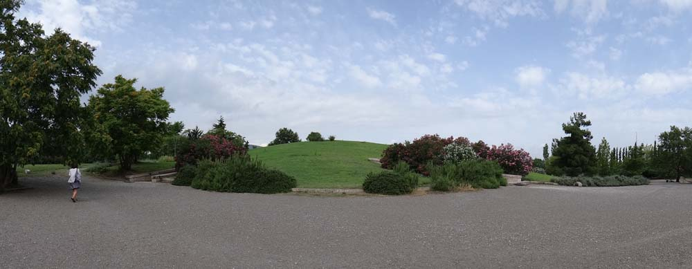 The burial mound over the Royal Tombs.