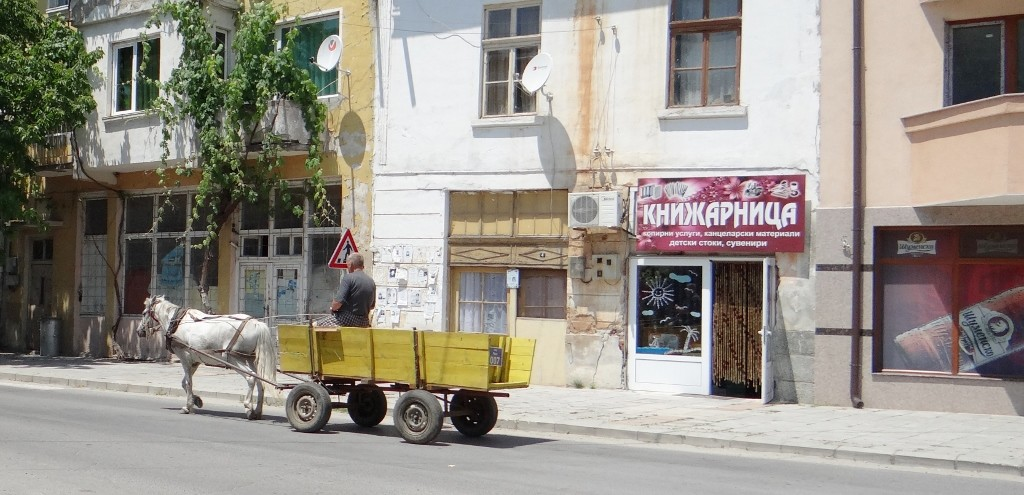 Downtown Rila - satellite and horse power!
