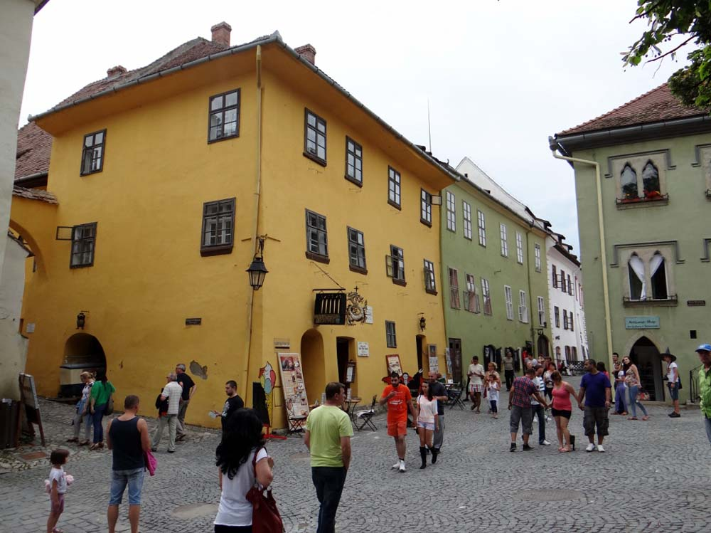 Vlad's birthplace is the yellow one - prime position in the town