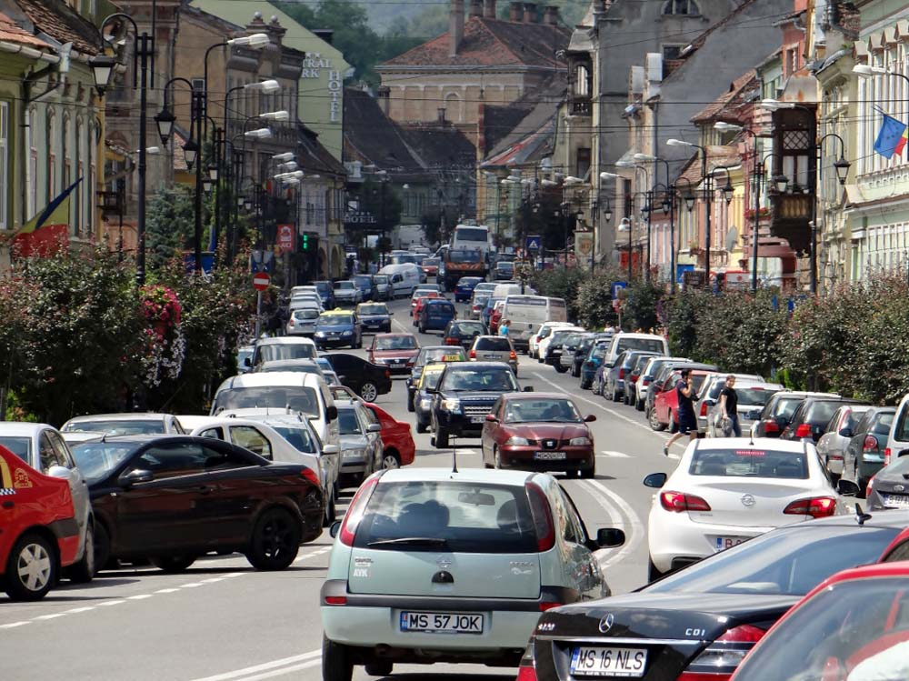 The historic centre is car free, so the surrounds can get quite busy for parking