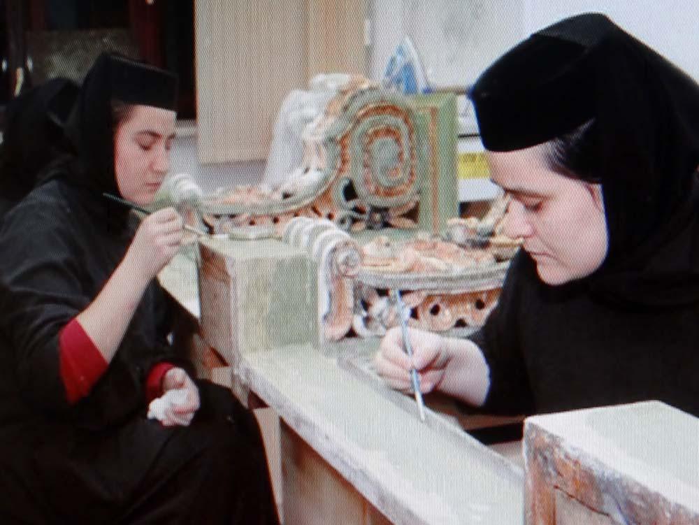 Non-smiling nuns.