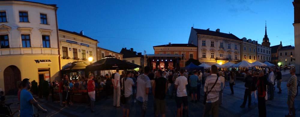 Jazz in Tarnow market square....nice!