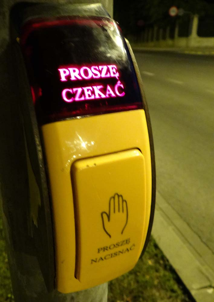 No jaywalking here in Poland - you can tell we're back in Northern Europe!