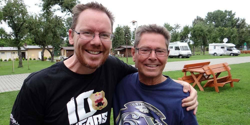 Jay and Keith at Camping 202 in Tarnow