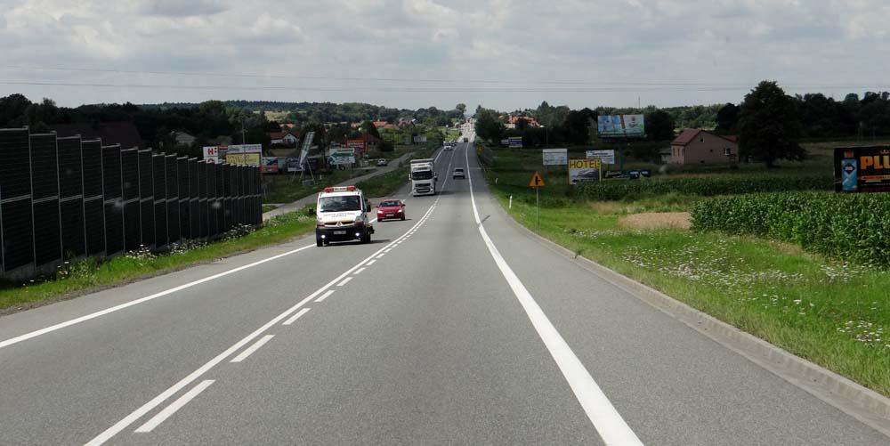 Uneventful roads in Poland