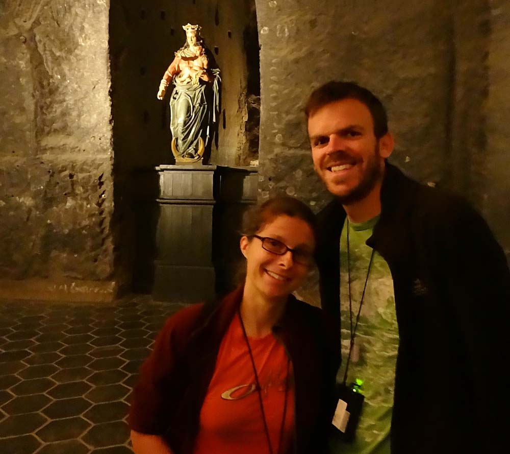 Louise and Colin in one of the chapels