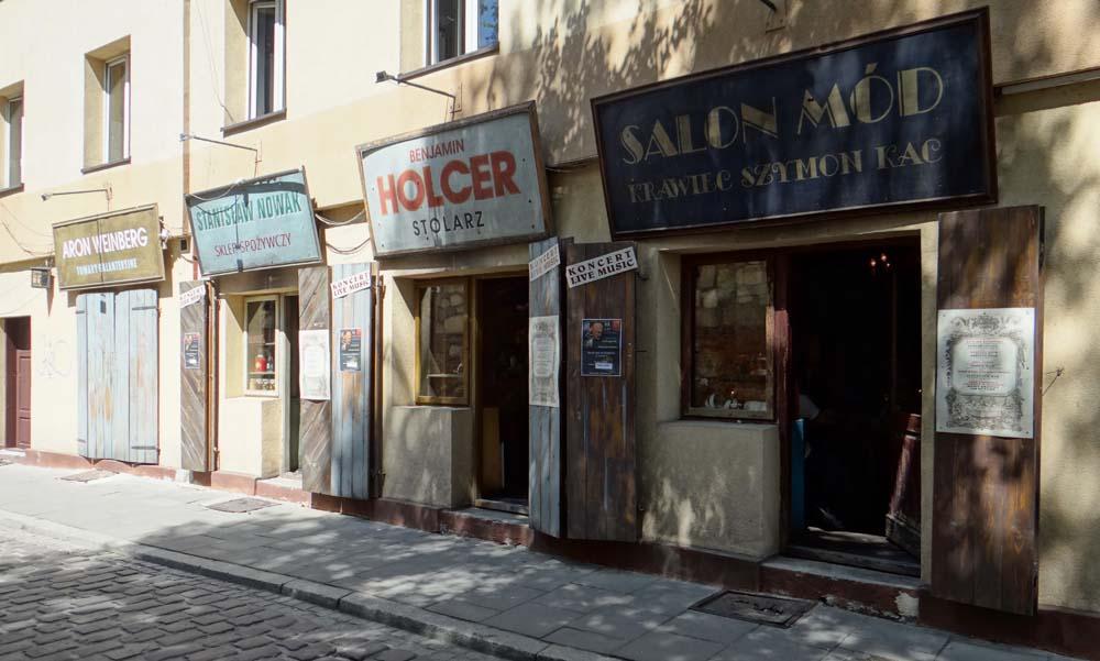 A quaint row of shops, but it's a restaurant!