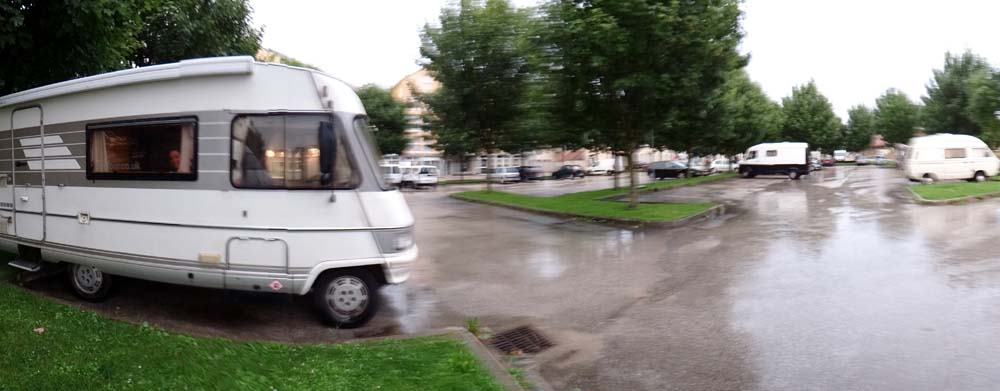 Dave in his rain soaked car park for tonight.