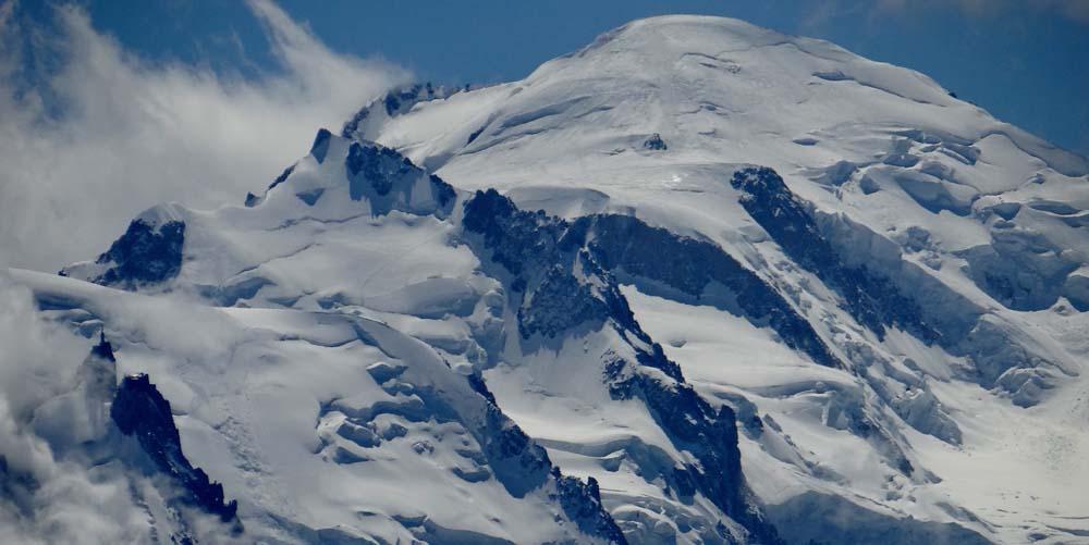 The Aiguille du Midi and Mont Blanc