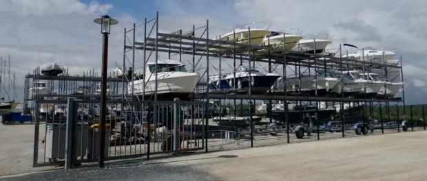 Multi-storey boat park Soubise